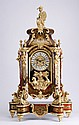 Louis XV-style Boulle inspired clock, 42.5