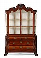 18th c. English mahogany cabinet