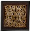 (3) Kuba ritual embroidered raffia cloths
