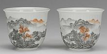 (2) Late 19th c. Chinese porcelain wine cups