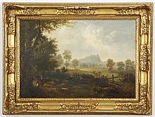 19th c. British oil on canvas landscape