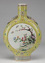19th c. Chinese porcelain moon flask vase