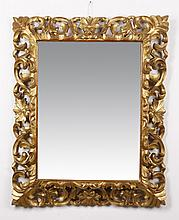 French pierce carved giltwood mirror