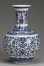 Early 20th c. Chinese porcelain bottle vase