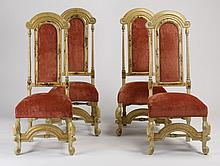 (4) Hand decorated side chairs