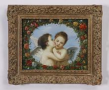 19th c. oil on canvas, signed Seignac