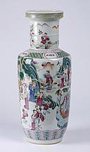 19th c. Chinese porcelain rouleau vase