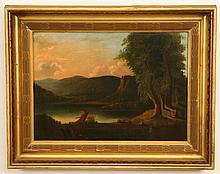19th c. oil on canvas landscape