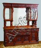 19th c. American carved oak buffet