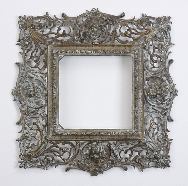 19th c. bronze frame