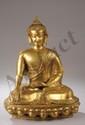 Buddha Sakyamuni. Bronze. Tibet. 20 ème siècle.