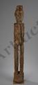 Hampatong, figuration anthropomorphe masculine gardienne et protectrice  des rizières. Bois érodé. Dayak. Bornéo. Indonésie. Ht 138cm