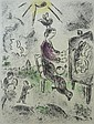 M. CHAGALL H.Signed Colour Etching