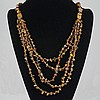Five Strand Brown Agate Necklace 94.20 grams