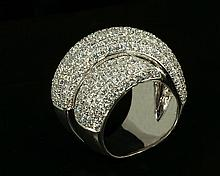 18kw Diamond Ring 4.32ct, G/SI1