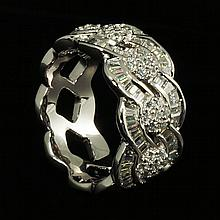 18kw Diamond Ring 3.54ct, G/SI1
