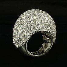 18kw Diamond Ring 10.74ct, G/SI1