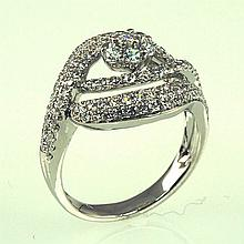 18kw Diamond Ring 1.41ct, G/SI1