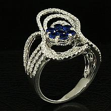 18kw Diamond Ring 2.04ct,  G/SI1
