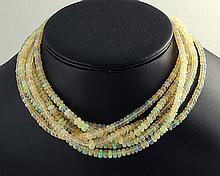 Natural Ethopian Opal 305.55 cts 6 rows necklace