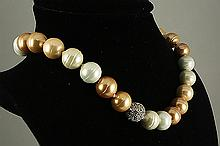 Mother Pearl Necklace , mm,529ctw