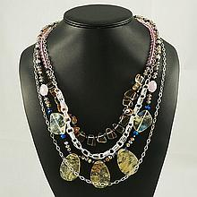 Agate Fashion Necklace ,FN0075-120180,124.50g