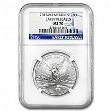 2013 1/2 oz Silver Libertad MS-70 NGC (ER) - Registry Set