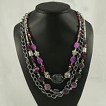 Agate Fashion Necklace ,FN0075-120180,116.10g