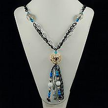 Agate Fashion Necklace ,FN0073-120100,65.50g
