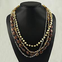 Agate Fashion Necklace ,FN0075-120180,126.60g