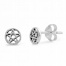 Silver Earrings - Star,5mm,,Sterling Silver