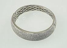 18KW Diamond ,Bangle ,18.17ctw,  G/SI1