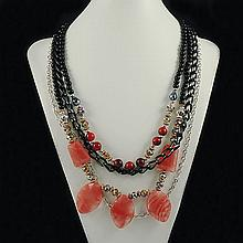 Agate Fashion Necklace ,FN0075-120180,126.00g