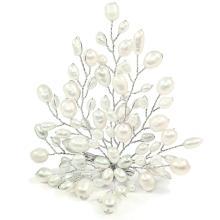 Fresh Water Pearl Brooch Pin - White