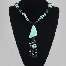 Fashion  Jewelry Turquoise & Glass Bead Necklace 86.10 grams