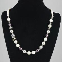 Fashion Jewelry Agate & Mother  Pearl  Bead Necklace 78.20 grams