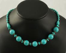 Turquoise,Necklace ,55.10g