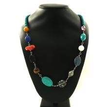 Turquoise & Mix Agate beads ,Necklace ,104.30g