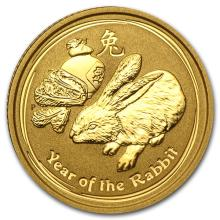 2011 1/10 oz Gold Lunar Year of the Rabbit (Series II)