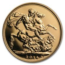 2014 Great Britain Gold Bullion Sovereign AGW .2354