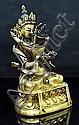 Qing Qianlong. A gilt-bronze figure of samvara