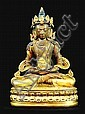 18th  Century. A gilt-bronze figure of buddha amitayus