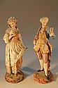 A pair of 19thC Villeroy and Boch bisque figures,