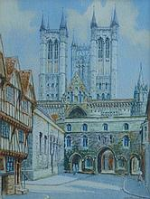Albert H Findley (1880-1975). Lincoln Cathedral, w