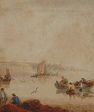 Samuel Owen (1768/9-1857). Coastal scene with fish