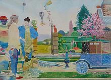 Samuel Fenton (b.1923). Eden, watercolour, signed,