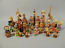 A collection of 41 Russian dolls, collected during