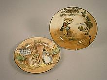 Two Royal Doulton series ware plates, Gaffers &