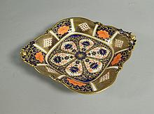 A Royal Crown Derby Imari pattern lozenge shaped