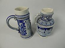 Two similar late 19th/early 20thC German stoneware